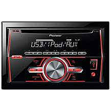 image of Pioneer FH-460UI Double Din Car Stereo with CD, USB & Aux-In Support