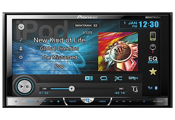 Pioneer AVH-X5600BT Double Din CD/DVD Car Stereo with large, wide angle 7