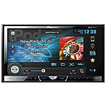 "image of Pioneer AVH-X5600BT Double Din CD/DVD Car Stereo with large, wide angle 7"" WVGA Touchscreen"