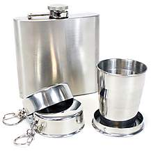 image of Hip Flask and Packable Cup Set