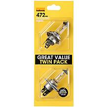 image of Halfords 472 H4 Car Bulbs x 2