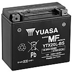 image of Yuasa YTX20L-BS Powersport Motorcycle Battery