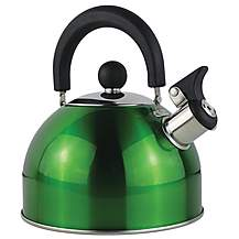 image of 2 Litre Metallic Whistling Kettle Green