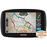 "image of TomTom GO 50 5"" Sat Nav with Lifetime TomTom Traffic & Maps of Europe"