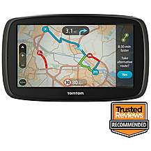 "image of TomTom GO 60 6"" Sat Nav with Lifetime TomTom Traffic & Maps of Europe"
