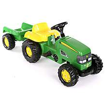 image of John Deere Tractor & Trailer Pedal Ride On