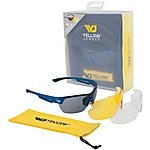 image of Yellow Jersey Sunglasses with Interchangeable Lenses - Blue