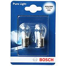 image of Bosch 566 P21/4W Car Bulbs x 2