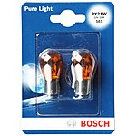 image of Bosch 581 PY21W Car Bulbs x 2