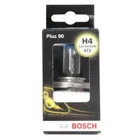 Bosch Car Headlamp Bulb Plus 90 472 H4 x 1