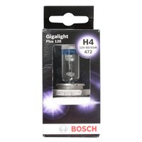Bosch Car Headlamp Bulb Gigalight Plus 120 472 H4 x 1