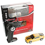 image of Chevrolet Camaro Remote Control Car 1.32 Scale - Yellow