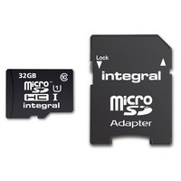 Integral Micro SD 32GB Memory Card & SD Adapter