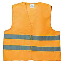 image of Halfords High Vis Orange Waistcoat