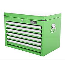image of Halfords Industrial 6 Drawer Ball Bearing Tool Chest - Green