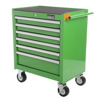 Halfords Industrial 6 Drawer Ball Bearing Tool Cabinet - Green