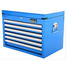 image of Halfords Industrial 6 Drawer Ball Bearing Tool Chest - Blue