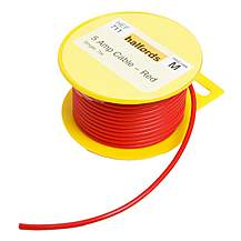 image of Halfords 5 Amp Cable Red HEF711