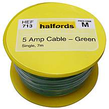 image of Halfords 5 Amp Cable Green HEF713