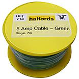 Halfords 5 Amp Cable Green HEF713