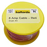 image of Halfords 8 Amp Cable Red HEF721