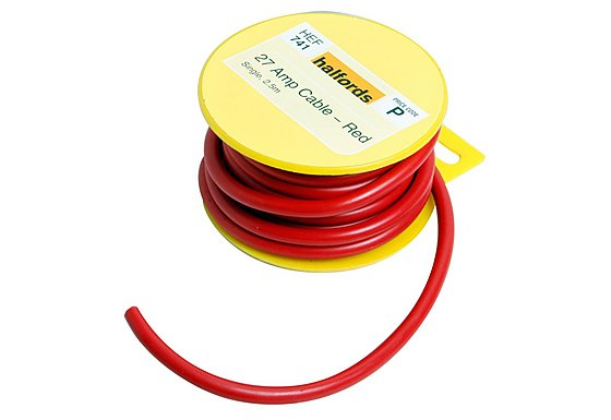 Halfords 27 Amp Cable Red HEF741