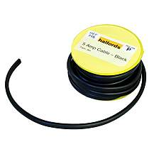 image of Halfords 5 Amp Twin Cable Black HEF715
