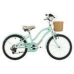 "image of Raleigh West Bay Girls Hybrid Bike - 20"""