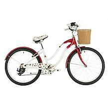image of Raleigh Scarlet Rose Girls Hybrid Bike - 24""
