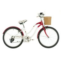 Raleigh Scarlet Rose Girls Hybrid Bike - 24""