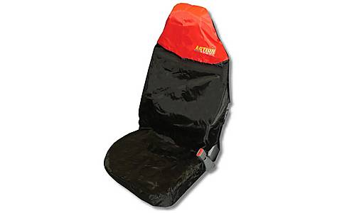 image of Action Sport Seat Protector 'Front' - Red/Black