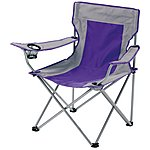 image of Halfords Folding Grey Arm Chair