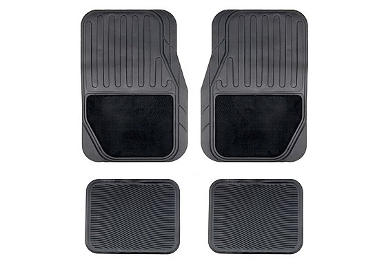 Halfords Carpet and Rubber Car Mats - Black