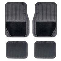 Halfords Carpet and Rubber Car Mats - Black