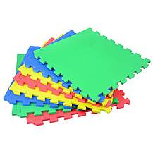 image of Rolson 8pc Coloured Inter-Locking Floor Mat
