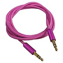 image of TechConnect 3.5mm to 3.5mm Aux Cable - Pink