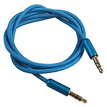 image of Halfords 3.5mm Aux Cable - Blue