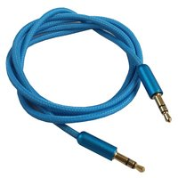 Halfords 3.5mm Aux Cable - Blue