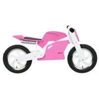Kiddimoto Pink & White Superbike Balance Bike