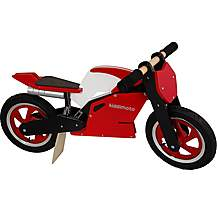 image of Kiddimoto Red & White Superbike Balance Bike