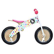 "image of Kiddimoto Pastel Dotty Kurve Balance Bike - 10"" Wheel"