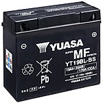 image of Yuasa YT19BL-BS Powersport Motorcycle Battery