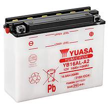 image of Yuasa YB16AL-A2 Powersport Motorcycle Battery