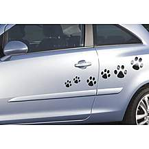image of Storm Graphics Paw Prints Car Stickers