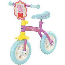 image of Peppa Pig 2-in-1 Kids Training Bike - 10""