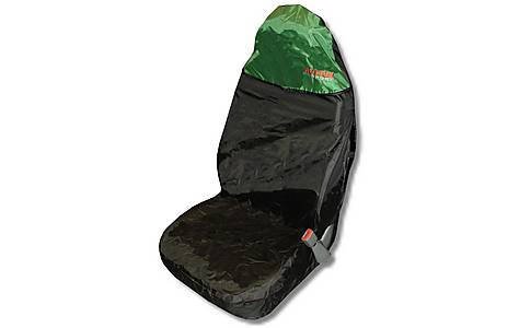image of Action Sport Car Seat Protector Front -  Green/Black
