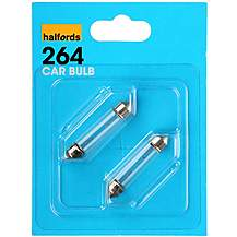 image of Halfords 264 K10W Car Bulbs x 2