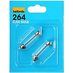 image of Halfords (HBU264) 10W Car Bulbs x 2