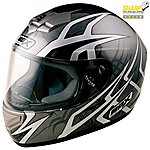 image of Box Web Black Motorcycle Helmet X Large