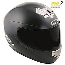 image of Box Matt Black Motorcycle Helmet BX-1 - Medium